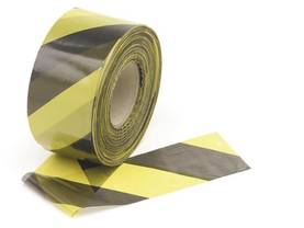 BLACK/YELLOW SAFETY TAPE - 500m - Turvatuotteet - 1188-500 - 1