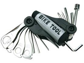 BICYCLE TOOL KIT WITH BELT POUCH - 15 pcs - Pumput - ABTS1 - 1