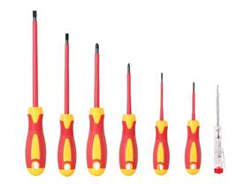 SET OF 6 INSULATED SCREWDRIVERS + VOLTAGE TESTER - Ruuvimeisselit - HSET11 - 1
