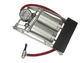 FOOT PUMP WITH DOUBLE BARREL AND PRESSURE GAUGE - Pumput - AFP02 - 1