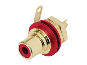 REAN - PHONO RECEPTACLE (RCA) - GOLD PLATED CONTACTS - RED - RCA liittimet - NYS367-2 - 1
