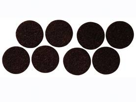 FELT TAPE - ROUND 38MM, 8PCS - Kotitaloustarvikkeet - DTF3 - 1