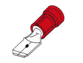 MALE CONNECTOR 4.8mm RED, 10pcs/blister - Lattaliittimet - uros - FRM4 - 1