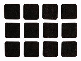 FELT TAPE - SQUARE 25MM X 25MM, 12PCS - Kotitaloustarvikkeet - DTF5 - 1
