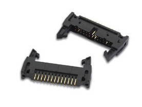PCB HEADER CONNECTOR, STRAIGHT, WITH LATCHES, 2.54mm, 20P GOLD - Lattakaapeliliittimet piirilevylle - CC045 - 1