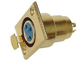 3P XLR SOCKET, GOLD-PLATED, CHASSIS MOUNT - XLR liittimet - CA106 - 1