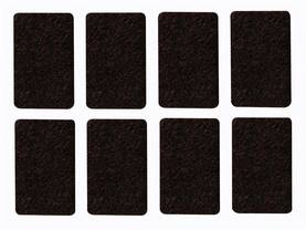 FELT TAPE - RECTANGLE 30MM X 48MM, 8PCS - Kotitaloustarvikkeet - DTF6 - 1