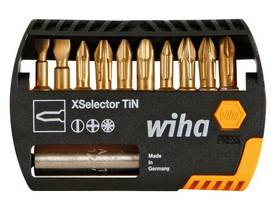 XSELECTOR TiN MIXED BIT SET  SL, PH, PZ - 11 PCS - WIHA - 7944-065 - Kärjet - WH26977 - 1