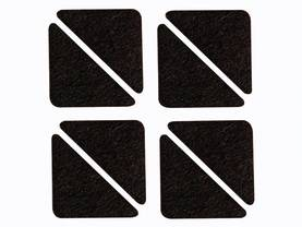 FELT TAPE - TIANGLE 60MM X 44MM X 44MM, 8PCS - Kotitaloustarvikkeet - DTF8 - 1