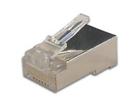 MODULAR CONNECTOR RJ45 8P8C FOR ROUND SHIELDED CABLES, 10 pcs IN BLISTER - Modularliittimet - 8P8CRSB - 1