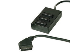 SCART BOX 3-WAY - 1m WIRE - SCART - SCARTB - 1