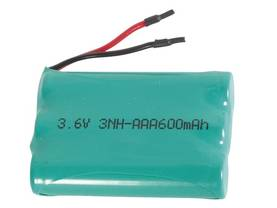 NiMH INDUSTRIAL BATTERY PACK 3x HR3 : 3.6V-600mAh WITH SOLDER WIRES - Langattomien puhelimien akut - 3HR3C - 1
