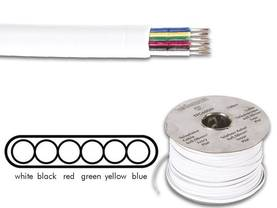 TELEPHONE CABLE 6 x 0.08mm WHITE FLAT, LENGTH ON REEL : 100m - Puhelinkaapelit - TFC6008I - 1