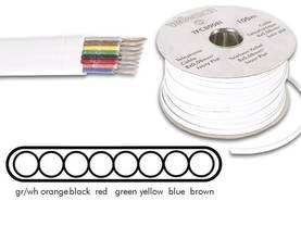 TELEPHONE CABLE 8 x 0.08mm WHITE FLAT, LENGTH ON REEL : 100m - Puhelinkaapelit - TFC8008I - 1