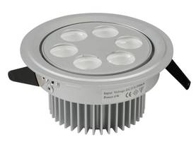 LED CEILING LIGHT - 6x1W - WW (2700K) with DRIVER - LED lamput - HQPOWER - LEDA07WW - 1