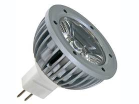 LED-LAMPPU 1W NEUTRAALI VALKOINEN (3900-4500K) 12VAC/DC MR16 - LED lamput - HQPOWER - LAMPL1MR16NW - 1