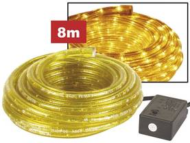 ROPE LIGHT - 2 CHANNELS - 8m - YELLOW + WITH WATERPROOFED PLUG + CONTROL BOX - Valoköydet - VDLRL28Y - 1
