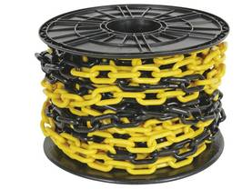 YELLOW/BLACK CHAIN 8mm ON REEL - 25m - Turvatuotteet - SCR8Y - 1